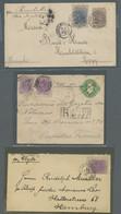 """Brasilien: 1890-1893, Partie Von 3 Belegen Mit Mi.Nr. 89 Einzelfrankatur Auf Brief Mit Vermerk """"per - Cartas"""