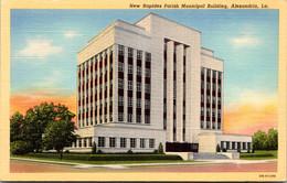 Louisiana Alexandria New Rapides Parish Municipal Building Curteich - Other