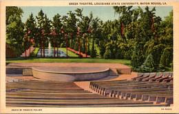 Louisiana Baton Rouge Greek Theatre Louisiana State University Curteich - Baton Rouge