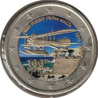 MA20015.4 - MALTE - 2 Euros Commémo. Colorisée Centenaire Du Premier Vol - 2015 - Malta