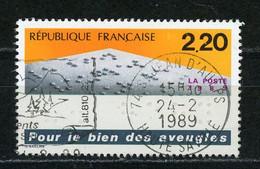 """FRANCE - POUR LES AVEUGLES - N° Yvert 2562 Obl. Ronde De """"StJEAN D'AULPS De 1989"""" - Oblitérés"""
