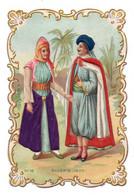 (Chromos) 195, Costumes N° 14 Algèrie 1830, Gaufrée Relief Embossed, Dos Blanc, état - Other