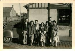 BRAY DUNES ET CITROEN 2CV 1954 PHOTO ORIGINALE  8.50 X 6 CM - Plaatsen