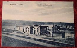 Allemagne Hesse Koppern In Taunus Bahnhof Und Totalansicht Gare Peu Courante - Andere