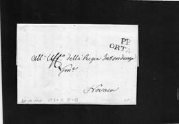 CG20 - Lettera Da Artò 22/10/1818 Per Novara - Annullo Lineare Nero Dì Orta Con P.P. - ...-1850 Préphilatélie