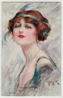 Illustrateurs Signés  // Femme Avec Chapeau - Other Illustrators