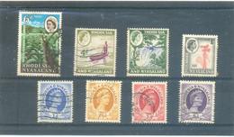 """8 Différents De """" RHODESIA & NYASALAND - Rhodesien & Nyasaland (1954-1963)"""