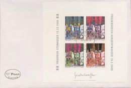 Österreich 2000 Friedensreich Hundertwasser Ersttagsbrief Block 15 FDC (X16576) - FDC