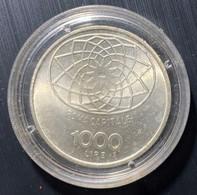 ITALIA REPUBBLICA 1970 L.1000 ROMA CAPITALE CONCORDIA ARGENTO FDC - 1 000 Liras
