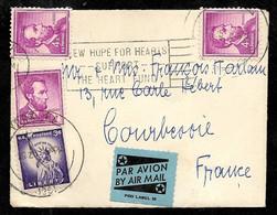 1961 ETATS-UNIS USA Lettre Avec Affranchissement Composé Dont Lincoln De YORK PA  Vers La France - Poste Aérienne - Cartas