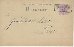 ALLEMAGNE - TRES TRES RARE - SEHR SEHR SELTEN - GANZSACHEN 1879 / ENTIERS POSTAUX - BIRRESBORN - 1879 - Sonstige