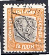 ISLANDE (Dépendance Danoise) - 1907-08 - Service - N° 24 - 3 A. Jaune Foncé - (Frédéric VIII Et Christian IX) - Unclassified