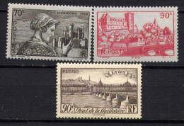 FRANCE - N° 448/450** - SITES ET PAYSAGES - Unused Stamps