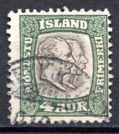 ISLANDE (Dépendance Danoise) - 1907-08 - Service - N° 25 - 4 A. Vert - (Frédéric VIII Et Christian IX) - Unclassified