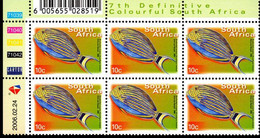 South Africa - 2006 7th Definitive Fauna And Flora 10c Control Block (2006.02.24) (**) - Hojas Bloque