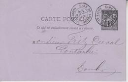 < France ..  Gare De Chalon Saône Et Loire Type 18 .. Sur Entier Cp 10 C Sage . 8 Aout 84 .. TTB - 1877-1920: Semi Modern Period