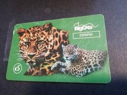 SPAIN SPANJE  € 5,- BIG CATS  LEOPARD PREPAID CARD        ** 4868** - Otros