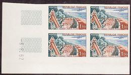 FRANCE (1962) Tourquet-Paris Beach. Scott No 1027, Yvert No 1355. Corner Bl/4 MNH - Imperforates