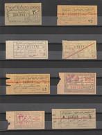 Egypt - Rare Lot - Old Tickets - 8 Different - Train, Metro & Auto Bus - Cartas