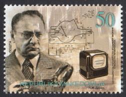 Macedonia 2013  125 Years Anniversary Vladimir Zworykin Inventor Physician Cathode-ray Tube Television Russia MNH - Macedonia
