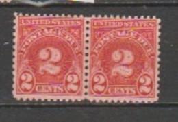 USA - Scott # J 71-MNH -Horizontal Pair. - Portomarken