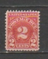USA - Scott # J 71- Unused, - Portomarken