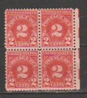USA - Scott # J 71- MNH,Block Of 4 Stamps. - Portomarken