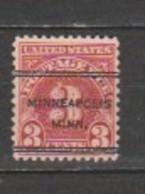 USA - Scott # J 72- MNH - Precancel - Portomarken