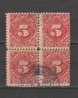 USA - Scott # J 34- Used,Block Of 4 Stamps. - Portomarken