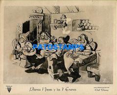 153545 ARTIST WALT DISNEY ART BLANCA NIEVES Y LOS 7 ENANOS RADIO RKO AFICHE POSTER 25.5 X 20.5 CM NO POSTCARD - Artistes
