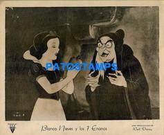 153546 ARTIST WALT DISNEY ART BLANCA NIEVES Y LOS 7 ENANOS RADIO RKO AFICHE POSTER 25.5 X 20.5 CM NO POSTCARD - Artistes
