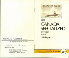 Canada Specialized Postage Stamp Cat. 1977; 121 P.; Pièce De Collection Piece (4061) - Cartas