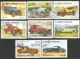 788 Sao Tome Principe Mercedes Benz Rover Phaeton Renault Morris Delage Cars (SAO-9) - Coches