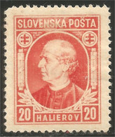 810 Slovensko 1939 Andrej Hlinka 20h Orange MH * Neuf CH (SLK-32a) - Nuevos