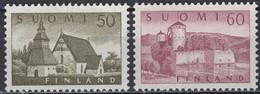 Finland - Definitives - Set Of 2 - Lammi Church / Olofsborg Castle - Mi 474~475 - 1957 - MNH - Neufs