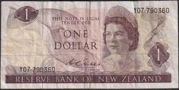 New Zealand ND (1972?) $1 Banknote Y07 790360 Well Worn Sign. Wilks - New Zealand