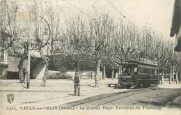 """CPA FRANCE 69 """"Vaulx En Velin, La Grande Place"""" / TRAMWAY - Vaux-en-Velin"""