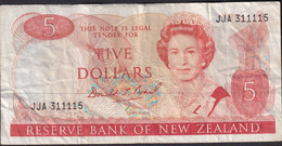 New Zealand ND (1989-92) $5 Banknote JJA 311115 - New Zealand