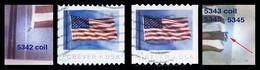 Etats-Unis / United States (Scott No.5342-43 - FLAG ) (o) 2 Diff. Coil - Usados