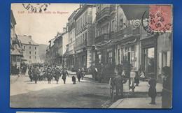 GAP   Rue Carnot  Défilé Du Régiment     Animées  écrite En 1906 - Gap