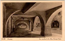 6DO 948 CPA - ANNECY - LES ARCADES DE LA RUE SAINTE CLAIRE - Annecy