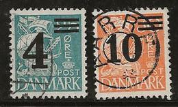 Danemark 1933-1940 N° Y&T :  227 Et 228 Obl. - Usado