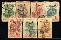 UNGHERIA - 1958 - AEREO CHE PLANA SULLE CITTA' UNGHERESI - USATI - Gebraucht