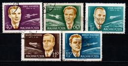 UNGHERIA - 1962 - ASTRONAUTI FAMOSI - USATI - Gebraucht