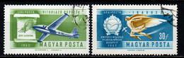 UNGHERIA - 1962 - STORIA DELL'AVIAZIONE: AEROPLANI - ICARO - USATI - Gebraucht
