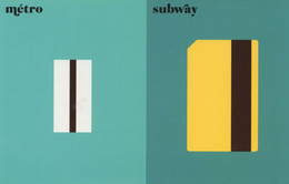 French Metro Vs Subway American Underground Train Ticket Postcard - Humor