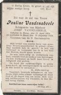 Herne, Bever, Pauline Vandenabeele, - Andachtsbilder
