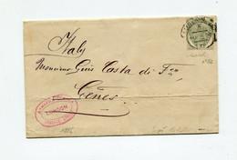 !!! PRIX FIXE : GRANDE BRETAGNE, LETTRE DE LONDRES POUR GENES DE 1886 AFFRANCH N°82. SIGNEE BOLAFFI - Briefe U. Dokumente