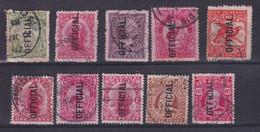 NEW ZEALAND - 1907/1910 - SERVICE YVERT N° 27/29+31+32+36/37+39/41 OBLITERES - COTE = 110 EUR. - - Officials