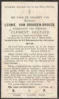 Viane, Bever, 1930, Leonie Van Droogenbroeck, Deltand - Andachtsbilder